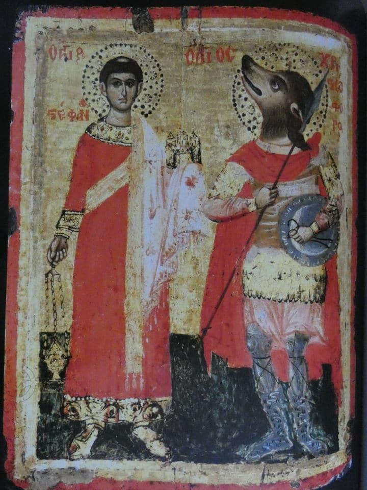 chiara frugoni uomini e animali nel medioevo arte cinocefalo con un santo