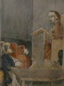 paradiso vista inferno dettaglio affreschi lorenzetti