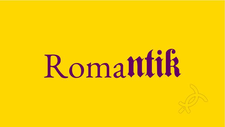 differenze fra il romanticismo latino e il romanticismo tedesco